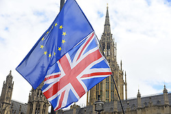 September 5, 2017 - London, England, United Kingdom - A demonstration against Brexit took place near the Houses of Parliament, in London on September 5, 2017. The process to leave the European Union is starting its third step. (Credit Image: © Alberto Pezzali/NurPhoto via ZUMA Press)