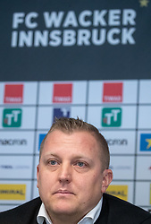 06.03.2019, Tivoli Stadion Tirol, Innsbruck, AUT, 1. FBL, FC Wacker Innsbruck, Präsentation des neuen Cheftrainers Thomas Grumser, im Bild Trainer Thomas Grumser (Wacker Innsbruck) // Coach Thomas Grumser (Wacker Innsbruck) during the presentation of the new head coach Thomas Grumser of the tipico-Bundesliga club FC Wacker Innsbruck at the Tivoli Stadion Tirol in Innsbruck, Austria on 2019/03/06. EXPA Pictures © 2019, PhotoCredit: EXPA/ Johann Groder