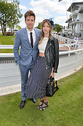 DJ GREG JAMES and JESS LORD at the Investec Derby 2015 at Epsom Racecourse, Epsom, Surrey on 6th June 2015.