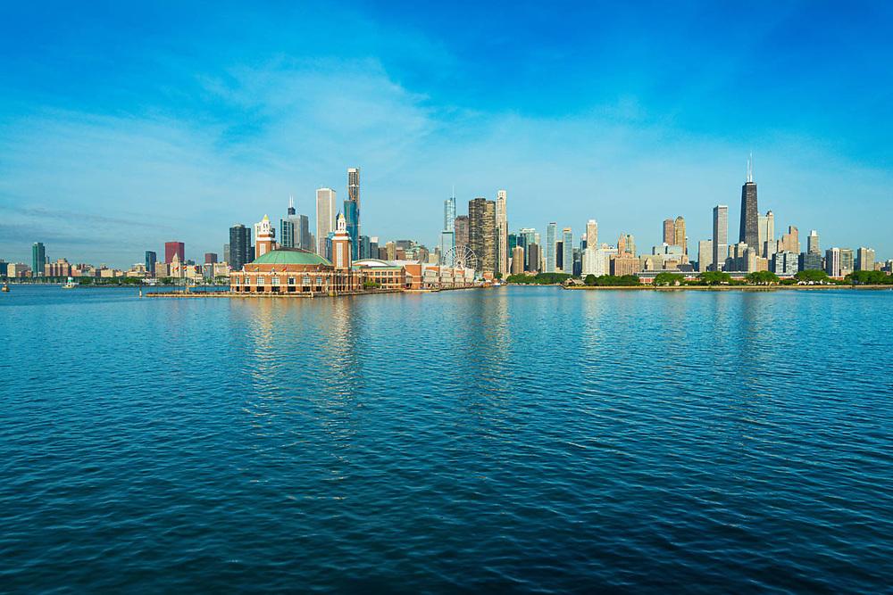 Digital photography. Exterior Architectural Photography. Buildings, locations, architecture. Chicago, Illinois, built landscape,
