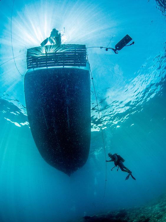 Scuba diving off liveaboard M/V FeBrina in Papua New Guinea