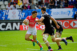 May 14, 2017 - Paris, France - PIERRE POPELIN of French team during the match against New Zealand of HSBC World Rugby Sevens Series at Jean Bouin stadium of Paris France.New Zealand beat France 14-0 (Credit Image: © Pierre Stevenin via ZUMA Wire)