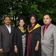 """25.08.2016          <br />  Faculty of Business, Kemmy Business School graduations at the University of Limerick today. <br /> <br /> Attending the conferring were Master of Science in Nursing (Rehabilitation of the Older Person) graduates, Subha Balasubramanian and Nivya P Baby with Sivakumar Jeganathan and Sunoj Philip. Picture: Alan Place.<br /> <br /> <br /> As the University of Limerick commences four days of conferring ceremonies which will see 2568 students graduate, including 50 PhD graduates, UL President, Professor Don Barry highlighted the continued demand for UL graduates by employers; """"Traditionally UL's Graduate Employment figures trend well above the national average. Despite the challenging environment, UL's graduate employment rate for 2015 primary degree-holders is now 14% higher than the HEA's most recently-available national average figure which is 58% for 2014"""". The survey of UL's 2015 graduates showed that 92% are either employed or pursuing further study."""" Picture: Alan Place"""
