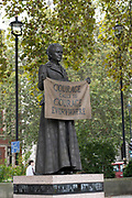 Millicent Fawcett statue at Westminster Square on the 3rd October 2019 in London in the United Kingdom.