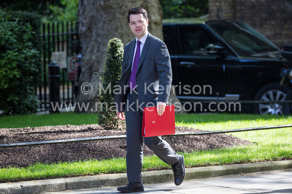 London, UK. 7 May, 2019. James Brokenshire MP, Secretary of State for Housing, Communities and Local Government, arrives at 10 Downing Street for a Cabinet meeting.