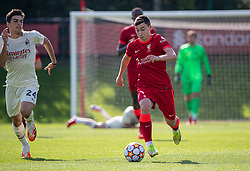 LIVERPOOL, ENGLAND - Wednesday, September 15, 2021: Liverpool's Mateusz Musialowski during the UEFA Youth League Group B Matchday 1 game between Liverpool FC Under19's and AC Milan Under 19's at the Liverpool Academy. Liverpool won 1-0. (Pic by David Rawcliffe/Propaganda)