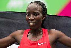 NYRR Mini 10K road race (40th year); Edna Kiplagat, Kenya,