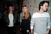 RUBY STEWART; CHLOE HAYWARD; TOMMY BAXTER, Browns Club Monaco launch. hosted by Lou Doillon, at the Schools of the Royal Academy of Art. Piccadilly, London. 19 February 2010.  .-DO NOT ARCHIVE-© Copyright Photograph by Dafydd Jones. 248 Clapham Rd. London SW9 0PZ. Tel 0207 820 0771. www.dafjones.com.
