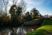 A stretch of the Stratford upon Avon Canal consisting of 50 locks between Stratford and the village of Wilmcote. photo by Mark anton Smith