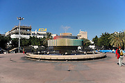 Israel, Tel Aviv, Dizengoff circle with a fountain by Yaacov Agam