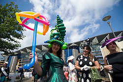 © licensed to London News Pictures.16/06/2011. Ascot, UK.  Balloon artist Miss Ballooniverse at Ladies day at Royal Ascot races today (16/06/2011). The 5 day showcase event is one of the highlights of the racing calendar. Horse racing has been held at the famous Berkshire course since 1711 and tradition is a hallmark of the meeting. Top hats and tails remain compulsory in parts of the course. Photo credit should read: Ben Cawthra/LNP