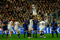 March 10, 2018 - Saint Denis, Seine Saint Denis, France - The Flanker of English team COURTNEY LAWES in action during the NatWest Six Nations Rugby tournament between France and England at the Stade de France - St Denis - France..France won 22-16 (Credit Image: © Pierre Stevenin via ZUMA Wire)