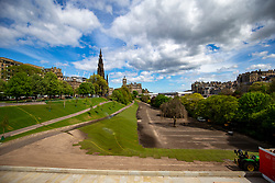 The gardens on Princes Street earlier this afternoon.