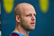 Steven Naismith (#14) of Heart of Midlothian FC speaks to the media during the Heart of Midlothian press conference, media and training session, ahead of the William Hill Scottish Cup Final, at the Oriam Sports Performance Centre, Edinburgh, Scotland on 15 December 2020.<br /> <br /> *** EMBARGOED UNTIL 18/12/2020 ***