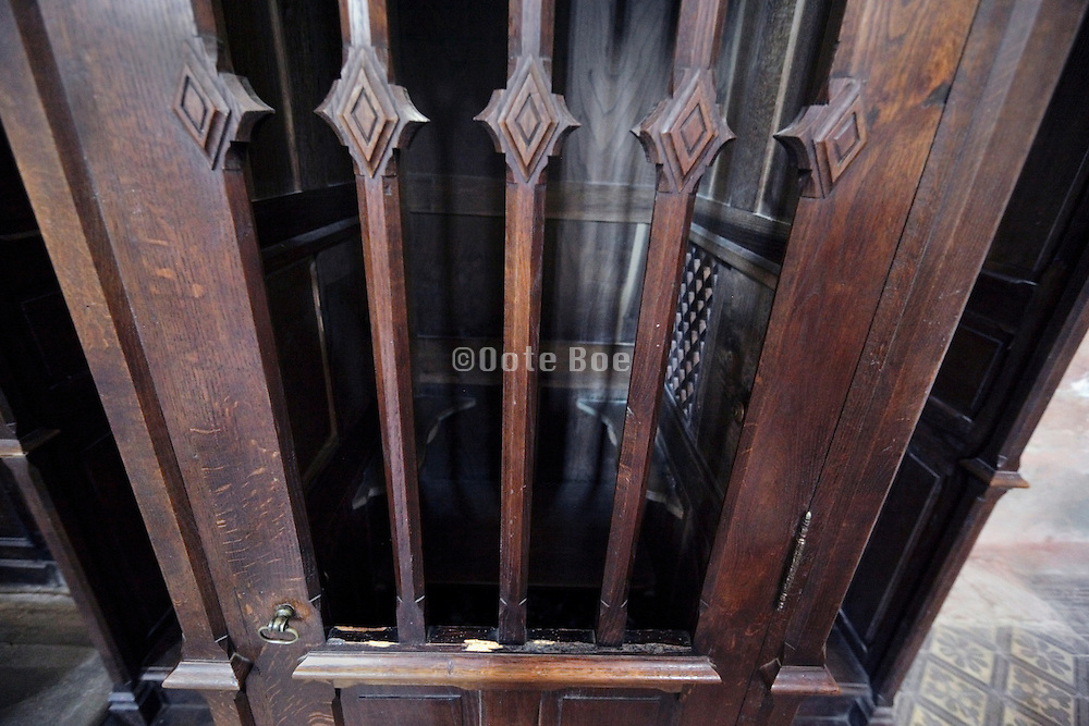 close up of a confessional France