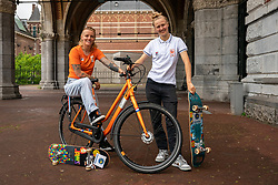 Skakeboarder Candy Jacobs and Keet Oldenbeuving during the Gazelle photoshoot on June 21, 2021 in Amsterdam