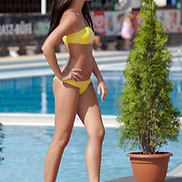 Andrea Makk participates the Miss Bikini Hungary beauty contest held in Budapest, Hungary on August 29, 2010. ATTILA VOLGYI
