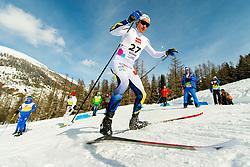 February 2, 2018 - Goms, SWITZERLAND - 180202 Eddie EdstrÅ¡m of Sweden competes in the men's 15/15 km skiathlon during the FIS U23 Cross-Country World Ski Championships on February 2, 2018 in Obergoms..Photo: Vegard Wivestad GrÂ¿tt / BILDBYRN / kod VG / 170096 (Credit Image: © Vegard Wivestad Gr¯Tt/Bildbyran via ZUMA Press)