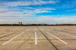 empty parking lot at Jones Beach on Long Island