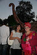 Sunetra Atkinson and  Camilla Batmanghelidhi , QUINTESSENTIALLY AND ELEPHANT FAMILY TRUNK SHOW PARTY. SERPENTINE PAVILION, HYDE PARK. 16 SEPTEMBER 2007. -DO NOT ARCHIVE-© Copyright Photograph by Dafydd Jones. 248 Clapham Rd. London SW9 0PZ. Tel 0207 820 0771. www.dafjones.com.