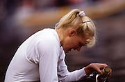 Bled, Slovenia, YUGOSLAVIA.  DDR W8+, Ramona BALTHASAR, 1989 World Rowing Championships, Lake Bled. [Mandatory Credit. Peter Spurrier/Intersport Images]