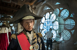 © Licensed to London News Pictures. 29/05/2018. London, UK. A funeral effigy of Admiral Nelson, from 1806, is displayed in the Queen's Diamond Jubilee Galleries at Westminster Abbey. The recently finished galleries situated in 13th century triforium, 52 feet above the abbey floor, will display treasures not seen by the public before and tell the story of abbey's thousand-year history. Photo credit: Peter Macdiarmid/LNP