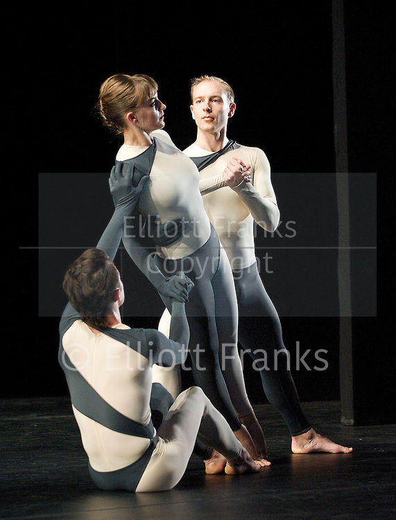Nearly Ninety<br /> The Merce Cunningham Dance Company <br /> choreography by Merce Cunningham<br /> at The Barbican Theatre, London, Great Britain <br /> rehesrsal <br /> 26th October 2010 <br /> <br /> <br /> Silas Riener<br /> Jamie Scott<br /> John Hinrichs<br /> <br /> <br /> <br /> <br /> Photograph by Elliott Franks<br /> 2010©Elliott Franks