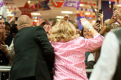 "Leigh Francis in character as TV JUICE host Keith Lemon says goodbye to loyal fans after signing copies of his new book. 'Keith Lemon: The Rules""  when he stopped in at WHSmith Meadowhall shopping centre in Sheffield. The event scheduled for 5:00 - 5:30 was so popular that Keith started signing early and didn't finish until 7:05pm as well as sales of the book being restricted.  .1st November 2011. Image © Paul David Drabble"