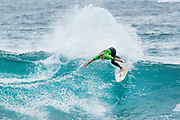 Trials winner and local favourite Richard Kidd of Ballito, South Africa advanced to Round Two after placing second in Heat 1 of Round One at The Ballito Pro, a QS10,000 rated event.