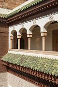 Balcony of Mahkama du Pacha in Casablanca, Morocco