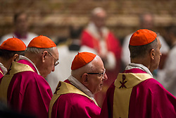Pope Francis celebrates a Mass for the Cardinals and Bishops who have died over the course of the year in St. Peter's Basilica in Vatican City on November 03, 2018. 03 Nov 2018 Pictured: Cardinals and Bishops attend the Mass for the Cardinals and Bishops who have died over the course of the year in St. Peter's Basilica in Vatican City on November 03, 2018. Photo credit: Stefano Costantino / MEGA TheMegaAgency.com +1 888 505 6342