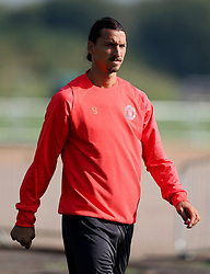 Zlatan Ibrahimovic of Manchester United  - Mandatory by-line: Matt McNulty/JMP - 14/09/2016 - FOOTBALL - Manchester United - Training session ahead of Europa League Group A match against Feyenoord