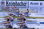 Munich, GERMANY   At the start for a heat of the men's doubles sculls M2X.1998 FISA World Cup, Munich Olympic Rowing Course, 29-31 May 1998.  [Mandatory Credit, Peter Spurrier/Intersport-images] 1998 FISA World Cup, Munich, GERMANY