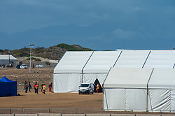 The City of Cape Town, on April 7, 2020, continued to buss its thousands of homeless people from various districts into a central tented shelter site erected in Strandfontein, a sea-side resort town 8 km east of Muizenberg. The effort was in response to the national lockdown due to the spread of the COVID-19 Coronavirus. PHOTO: EVA-LOTTA JANSSON