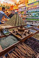 Zaatar, a Middle Eastern spice (hyssop), Arab Souk, Old City, Jerusalem, Israel.