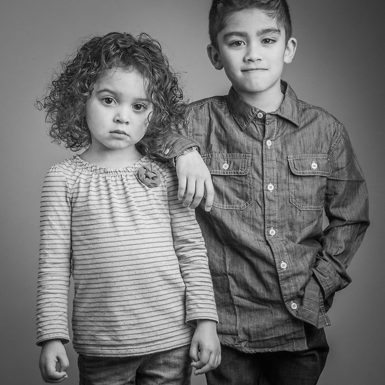 """Naveya (3) and Hundson (7) the grandchildren of Alex and Pearl Tatum, Christmas, 2013.  """"Anchorage has been a great place for our family.  Growing up here, I never noticed the racial devide that I heard about in the lower 48.""""  -Alex Tatum"""