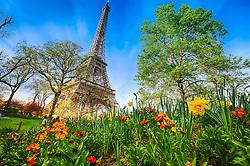 Jardins da Torre Eiffel. A Torre Eiffel é uma torre treliça de ferro do século XIX localizada no Champ de Mars, em Paris, foi construída como o arco de entrada da Exposição Universal de 1889. FOTO: Jefferson Bernardes/ Agência Preview