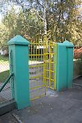 Colorful gateway. Rainbow Preschool Teczowe Przedszkole Balucki District Lodz Central Poland