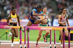 Christina Manning of the USA in action - Mandatory byline: Patrick Khachfe/JMP - 07966 386802 - 11/08/2017 - ATHLETICS - London Stadium - London, England - Women's 100m Hurdles Semi-Final - IAAF World Championships