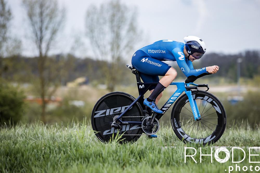 Emma Norsgaard (DEN/Movistar)<br /> <br /> Ceratizit Festival Elsy Jacobs (LUX) 2021<br /> UCI Women Elite 2.1<br /> Day 1 - prologue : Individual Time Trial (ITT) – Cessange (LUX) 2.2km <br /> <br /> ©RhodePhoto