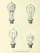 4 types of Edison's light bulbs From the Book Les merveilles de la science, ou Description populaire des inventions modernes [The Wonders of Science, or Popular Description of Modern Inventions] by Figuier, Louis, 1819-1894 Published in Paris 1867