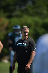 Jeff Stoutland The Philadelphia Eagles practice and fans watch during training camp at the NovaCare Complex on August 5, 2016 in Philadelphia, Pennsylvania. (Photo by Drew Hallowell/Philadelphia Eagles)