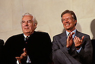 President Jimmy Carter and Chief Justice Warren E. Burger in August 1979<br /> <br /> Photograph by Dennis Brack<br /> bb45