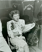 1944 Claudette Colbert at the Hollywood Canteen