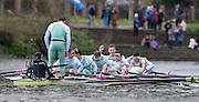 Putney - Chiswick, London,  Great Britain.<br /> Cambridge celebarate winning the  2016 University Boat Race, Oxford vs Cambridge, Putney. Putney  to Mortlake, Championship Course. River Thames.<br /> <br /> Sunday  27/03/2016 <br /> <br /> [Mandatory Credit; Peter SPURRIER/Intersport-images]