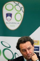 Head coach Slavisa Stojanovic during press conference of the Football Association of Slovenia (NZS – Nogometna zveza Slovenije), on November 7, 2011, in NZS, Crnuce, Ljubljana, Slovenia.  (Photo by Vid Ponikvar / Sportida)