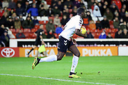 GOAL Charlton Athletic defender Anfernee Dijksteel (2) takes the ball back to the centre circle after Charlton Athletic midfielder Ben Reeves (12) scores to make the score 1-2 during the EFL Sky Bet League 1 match between Barnsley and Charlton Athletic at Oakwell, Barnsley, England on 29 December 2018.