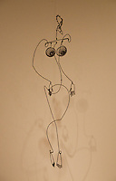 National Gallery, Washington DC. Calder Collection. Wire figure of a woman.