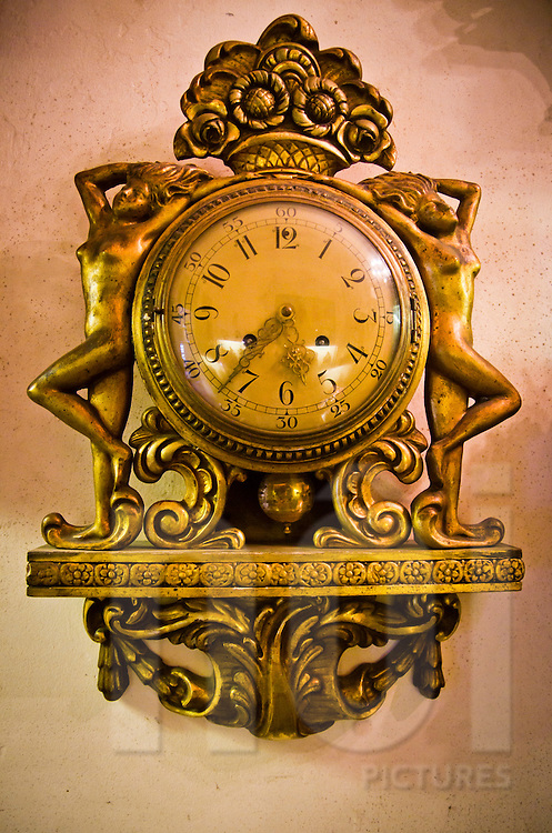 An old clock at Cafe Junghans, Hanoi, Vietnam, Asia