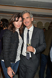 RONNI ANCONA and her husband DR GERARD HILL at a party hosted by Ewan Venters CEO of Fortnum & Mason to celebrate the launch of The Cook Book by Tom Parker Bowles held at Fortnum & Mason, 181 Piccadilly, London on 18th October 2016.